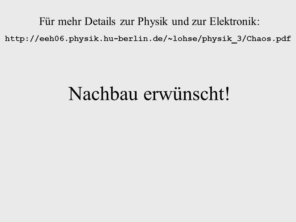 Für mehr Details zur Physik und zur Elektronik: