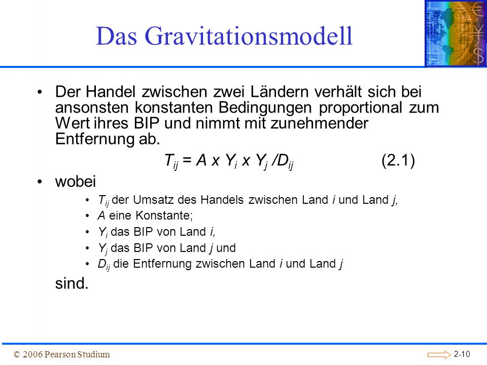 Das Gravitationsmodell