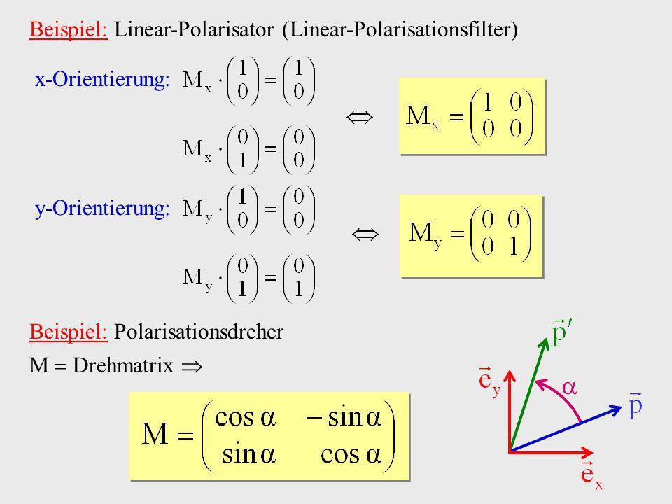  Beispiel: Linear-Polarisator (Linear-Polarisationsfilter)
