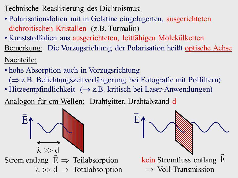 Technische Reaslisierung des Dichroismus: