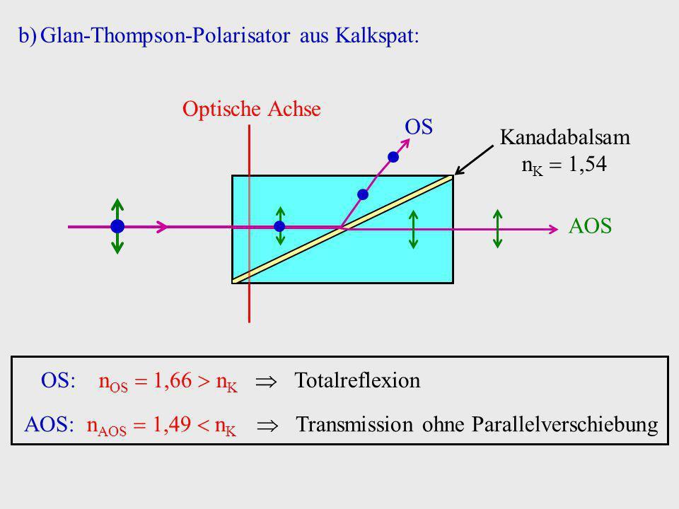 Glan-Thompson-Polarisator aus Kalkspat: