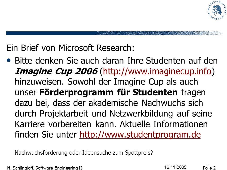Ein Brief von Microsoft Research: