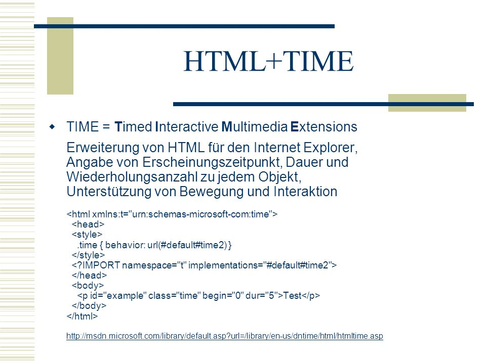 HTML+TIME