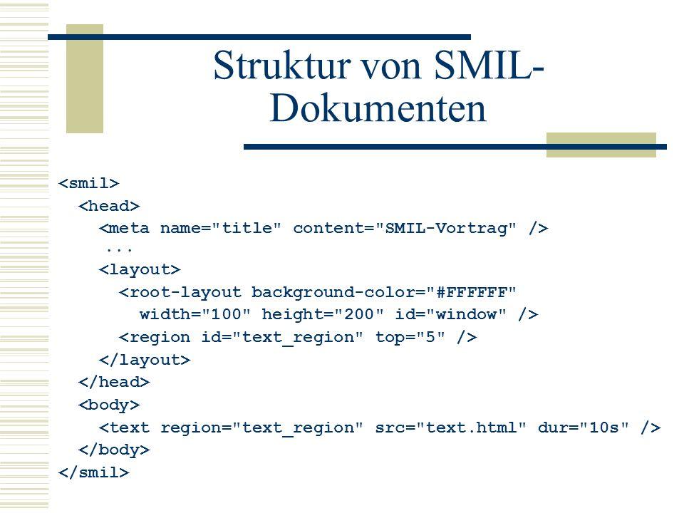 Struktur von SMIL-Dokumenten