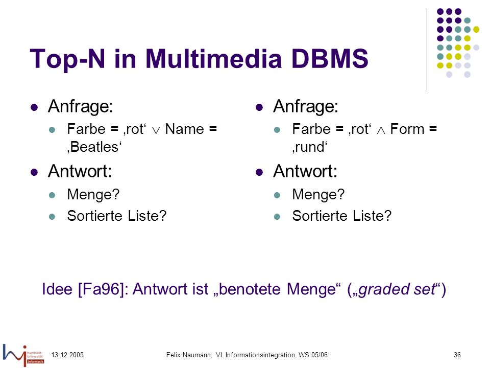 Top-N in Multimedia DBMS