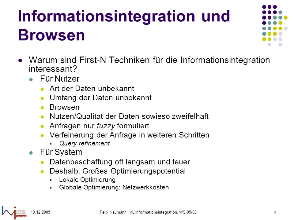 Informationsintegration und Browsen