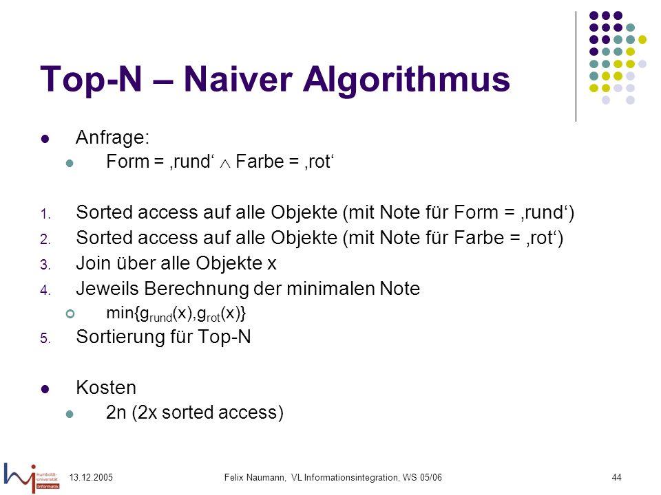 Top-N – Naiver Algorithmus