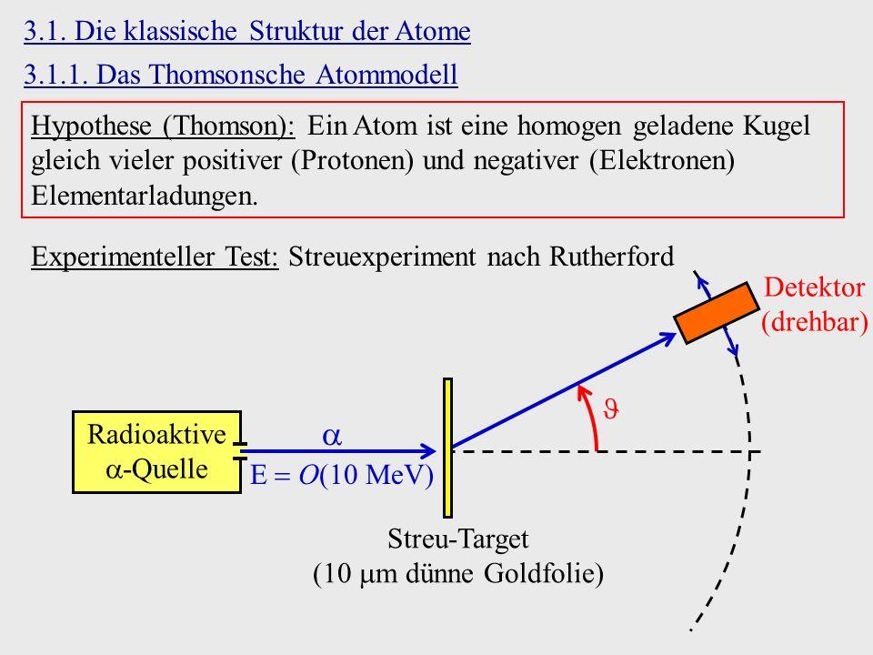  3.1. Die klassische Struktur der Atome