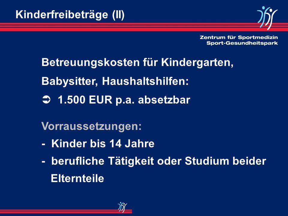 Kinderfreibeträge (II)