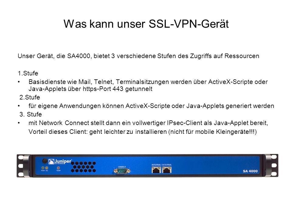 Was kann unser SSL-VPN-Gerät