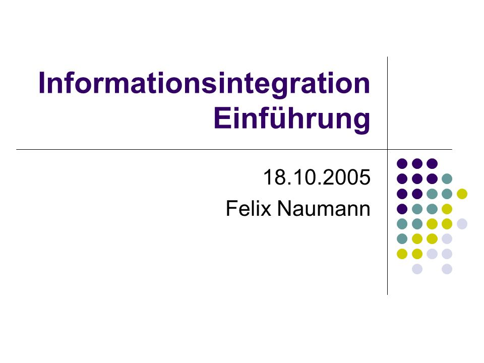 Informationsintegration Einführung