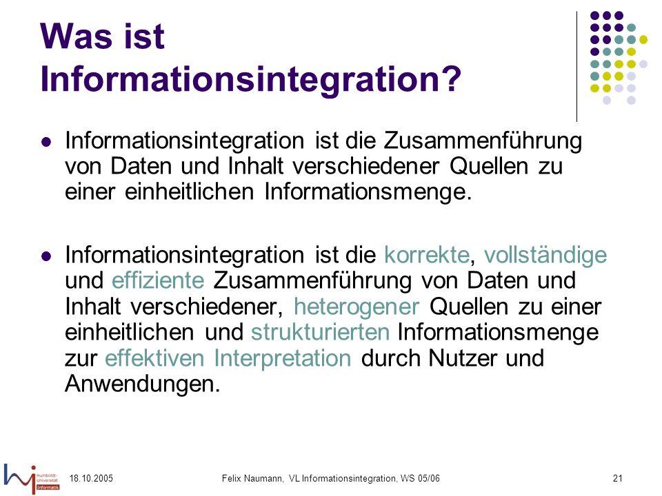 Was ist Informationsintegration