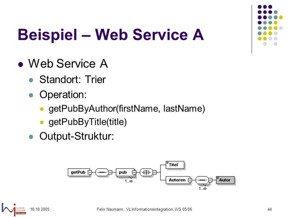 Beispiel – Web Service A