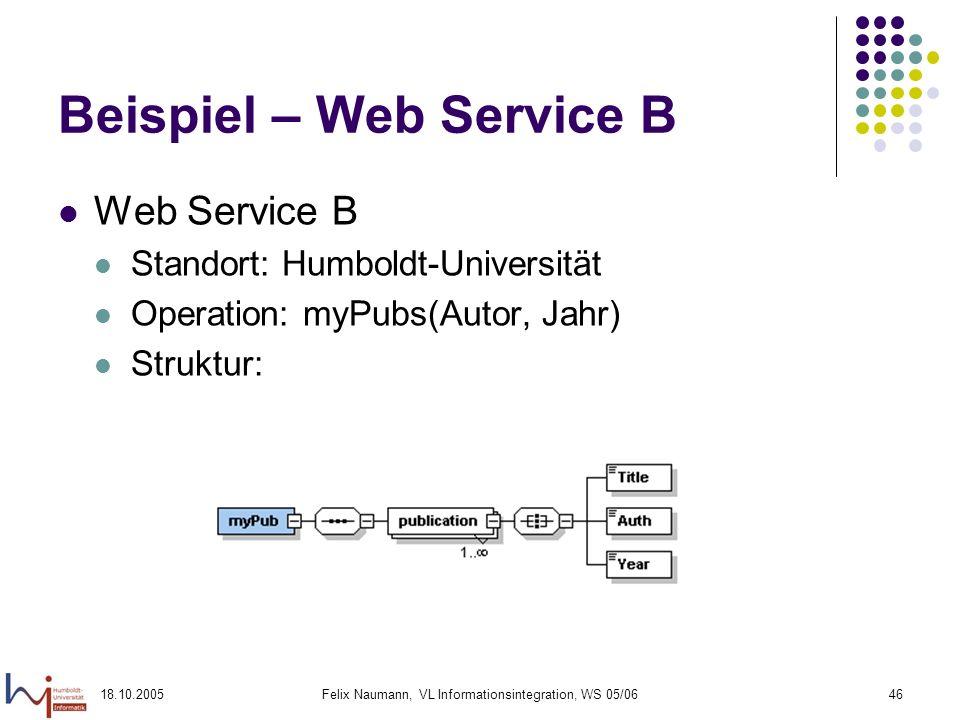 Beispiel – Web Service B