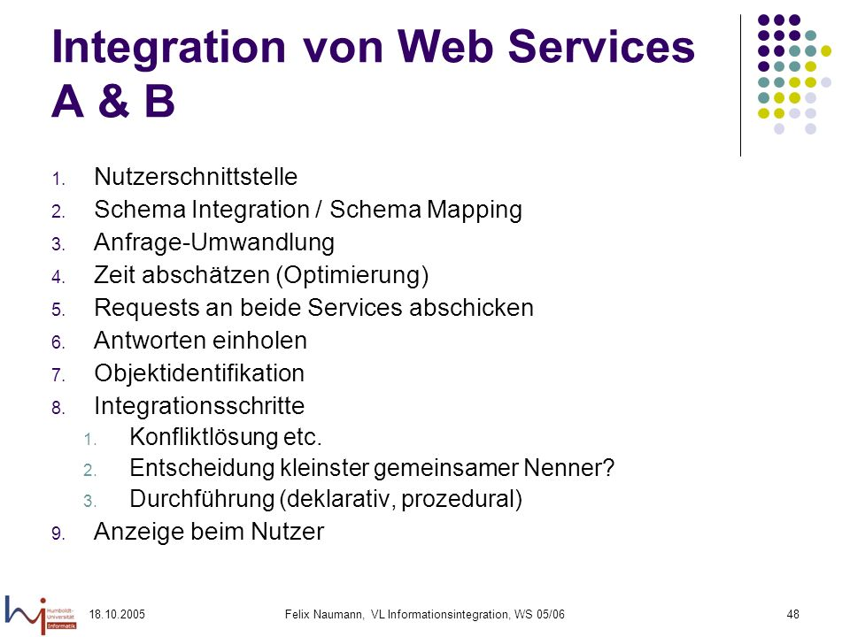 Integration von Web Services A & B