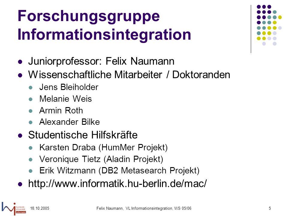 Forschungsgruppe Informationsintegration