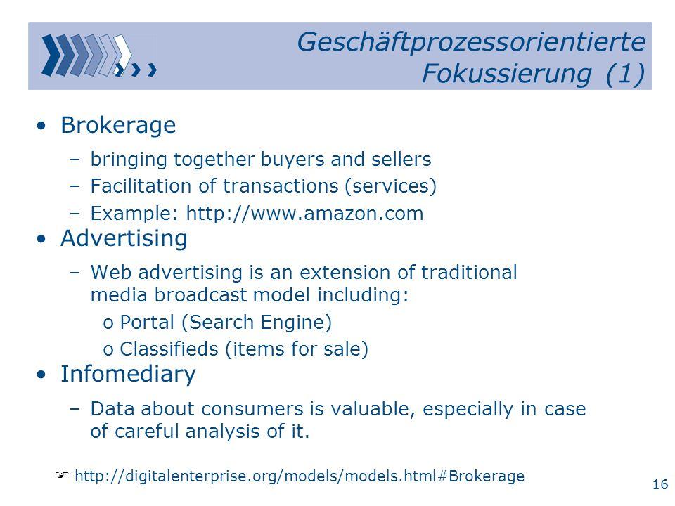 Geschäftprozessorientierte Fokussierung (1)
