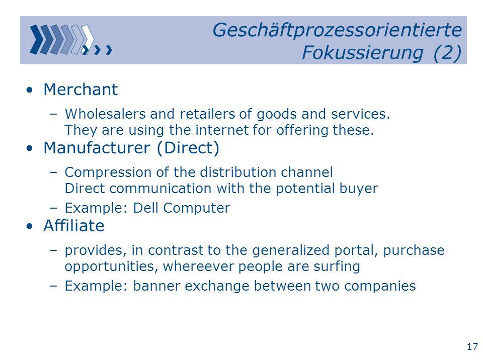 Geschäftprozessorientierte Fokussierung (2)