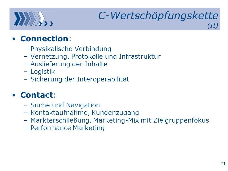 C-Wertschöpfungskette (II)