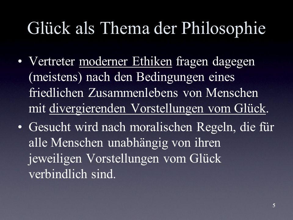 Glück als Thema der Philosophie
