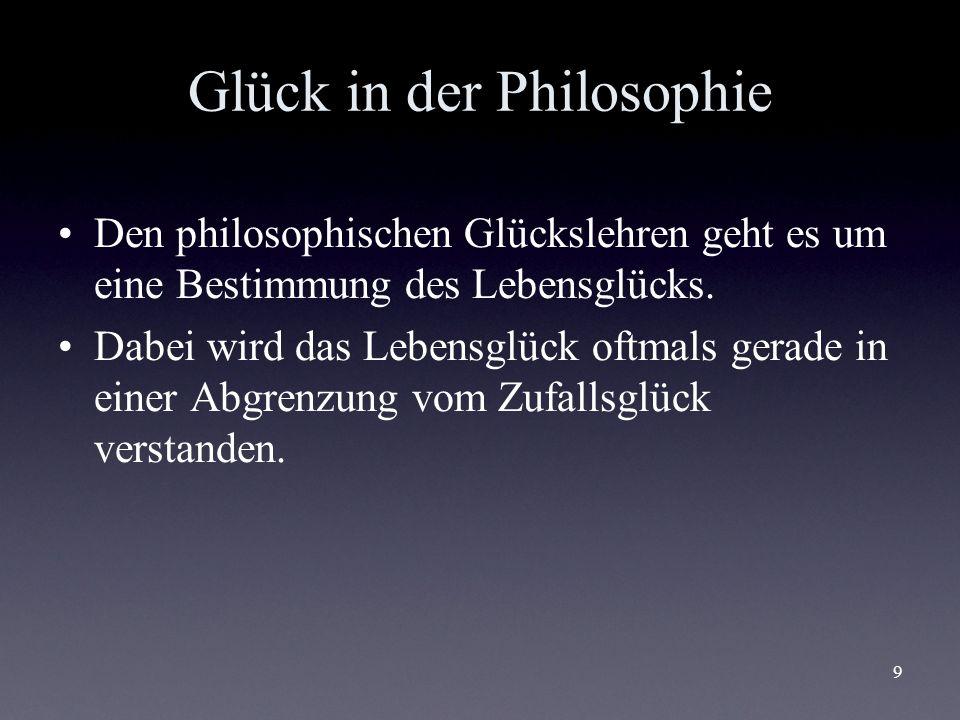 Glück in der Philosophie