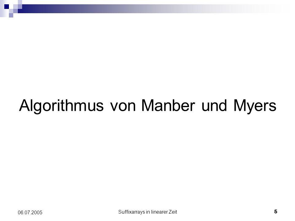 Algorithmus von Manber und Myers