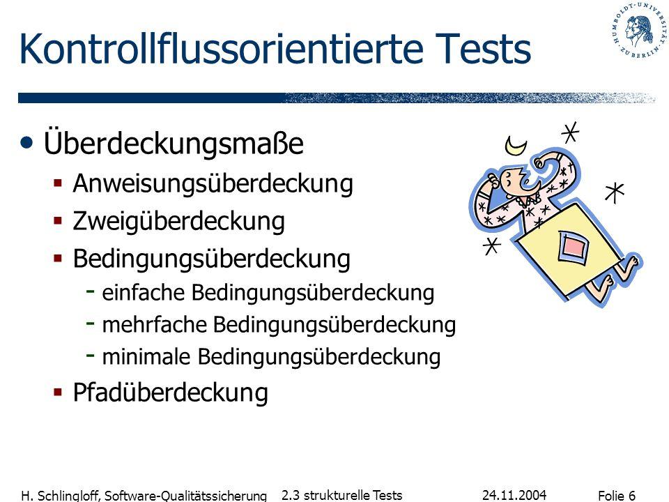 Kontrollflussorientierte Tests