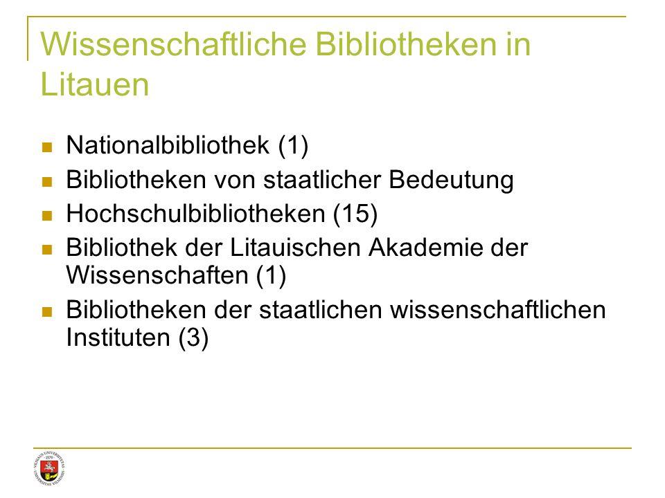 Wissenschaftliche Bibliotheken in Litauen