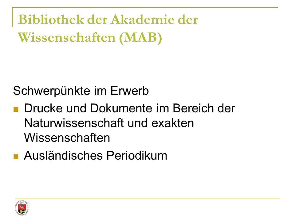 Bibliothek der Akademie der Wissenschaften (MAB)