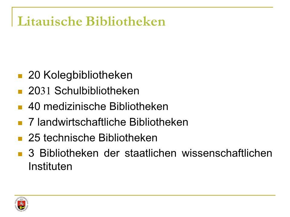 Litauische Bibliotheken