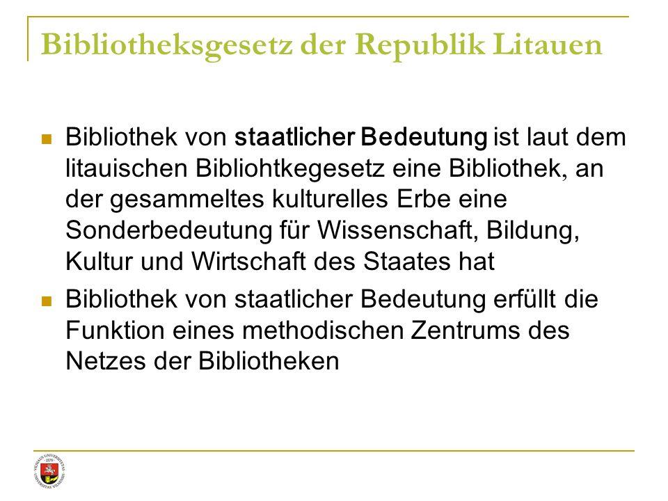 Bibliotheksgesetz der Republik Litauen