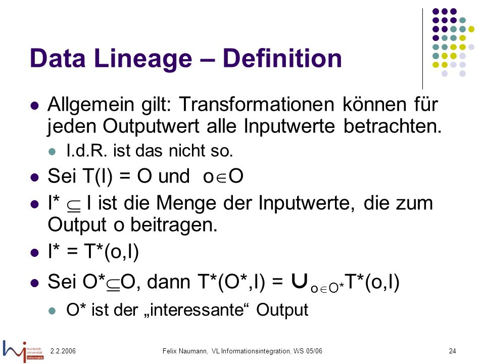 Data Lineage – Definition