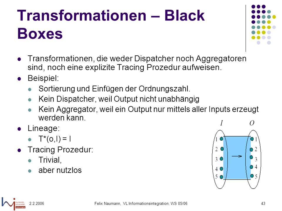 Transformationen – Black Boxes