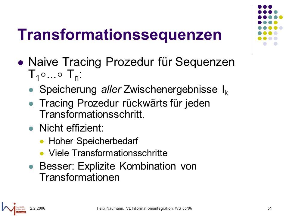 Transformationssequenzen