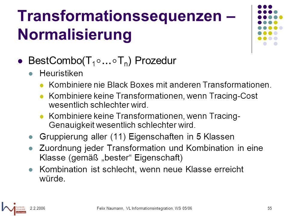 Transformationssequenzen – Normalisierung