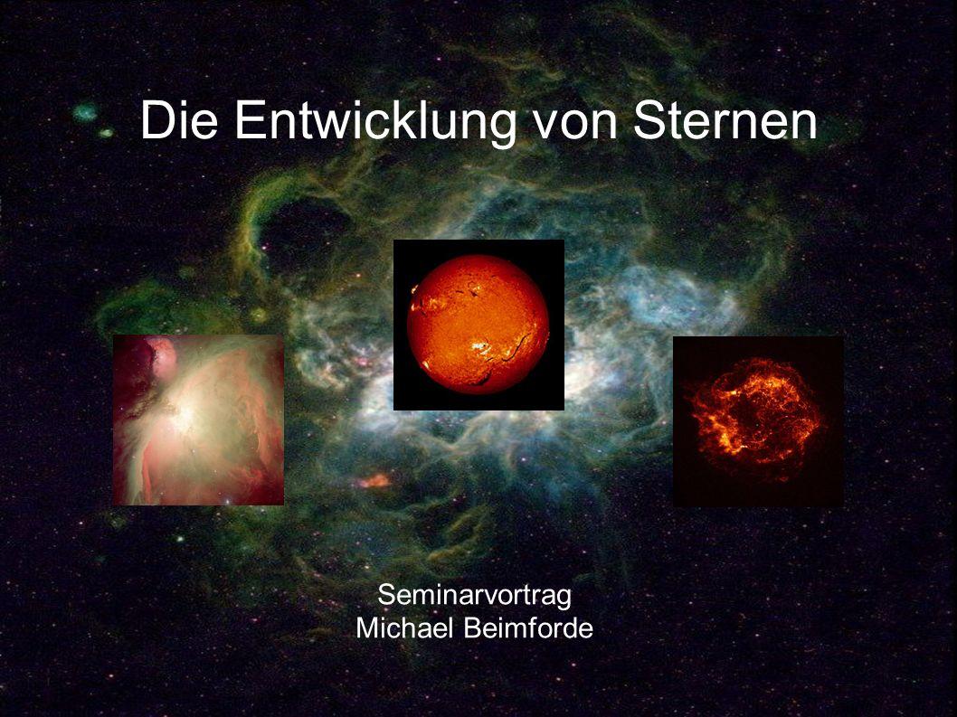 Die Entwicklung von Sternen