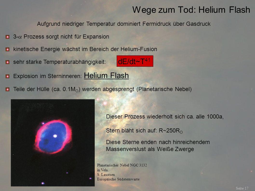 Wege zum Tod: Helium Flash