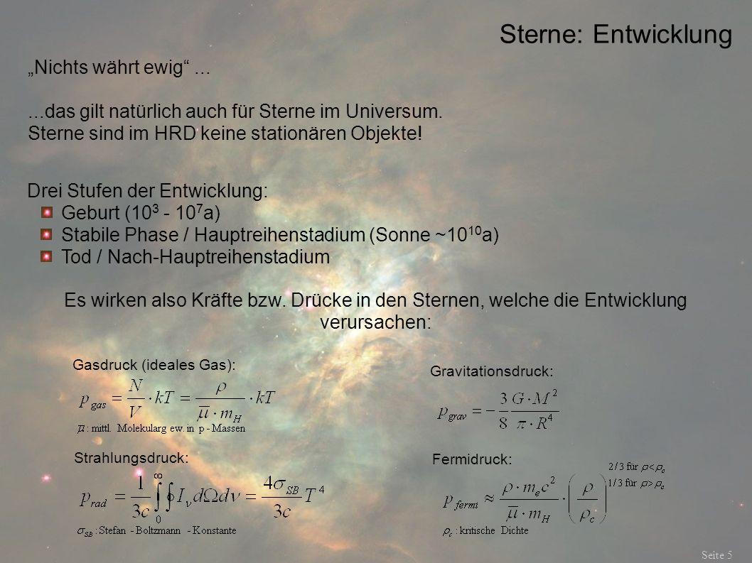 """Sterne: Entwicklung """"Nichts währt ewig ..."""