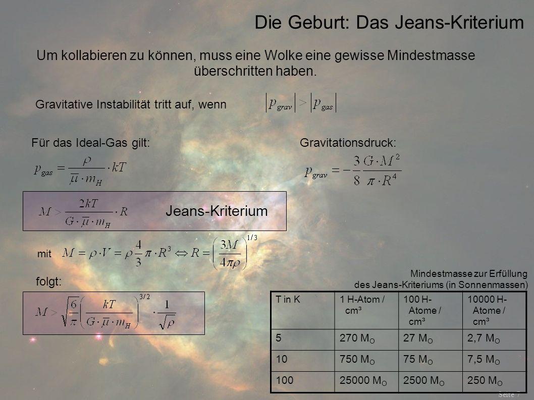 Die Geburt: Das Jeans-Kriterium
