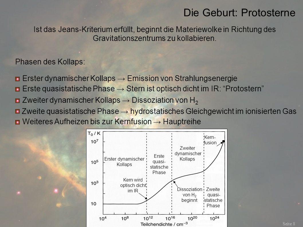 Die Geburt: Protosterne