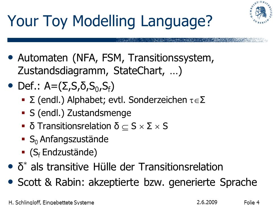Your Toy Modelling Language