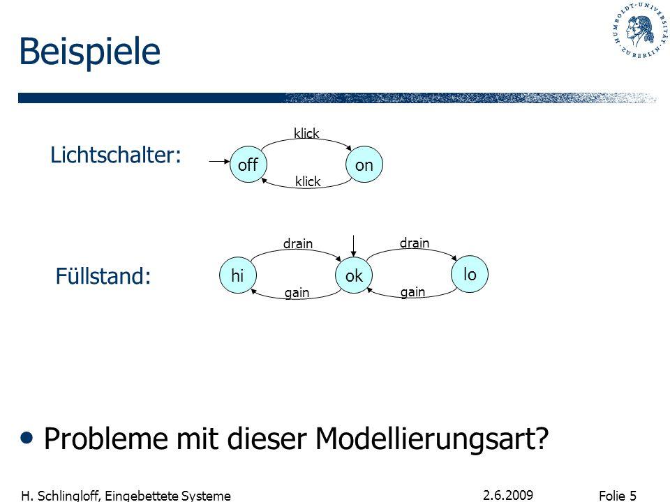 Beispiele Probleme mit dieser Modellierungsart Lichtschalter: