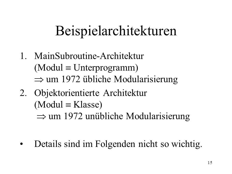 Beispielarchitekturen