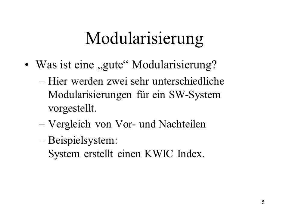 """Modularisierung Was ist eine """"gute Modularisierung"""