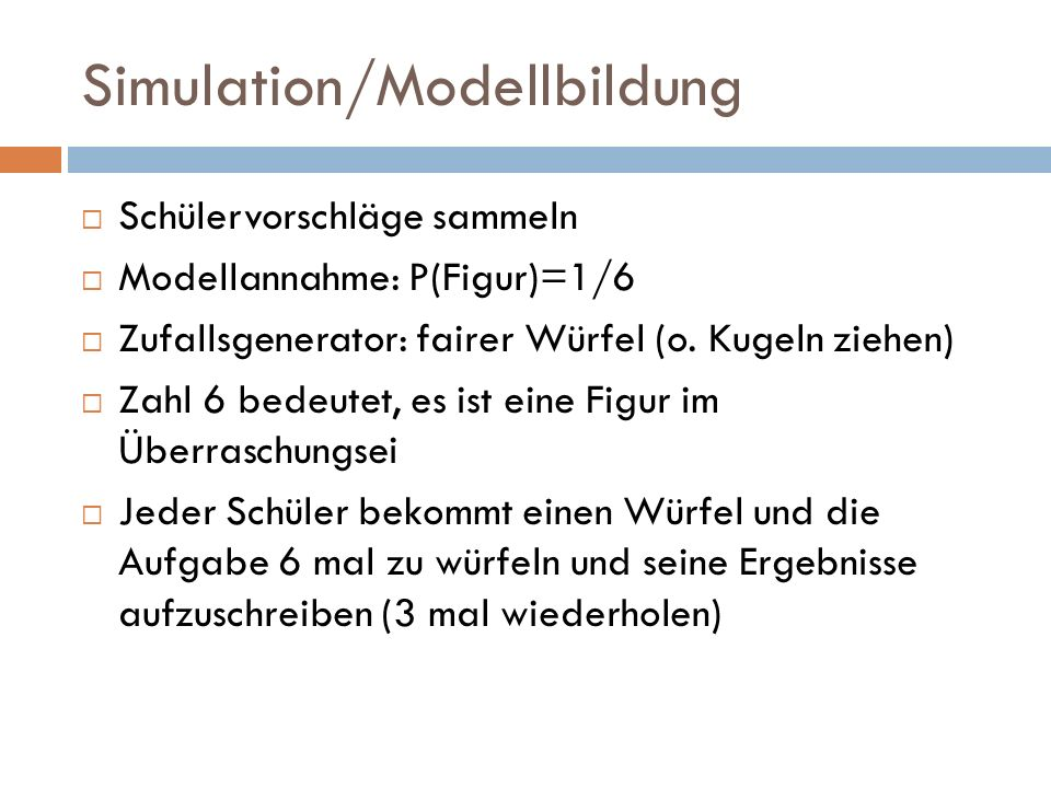 Simulation/Modellbildung