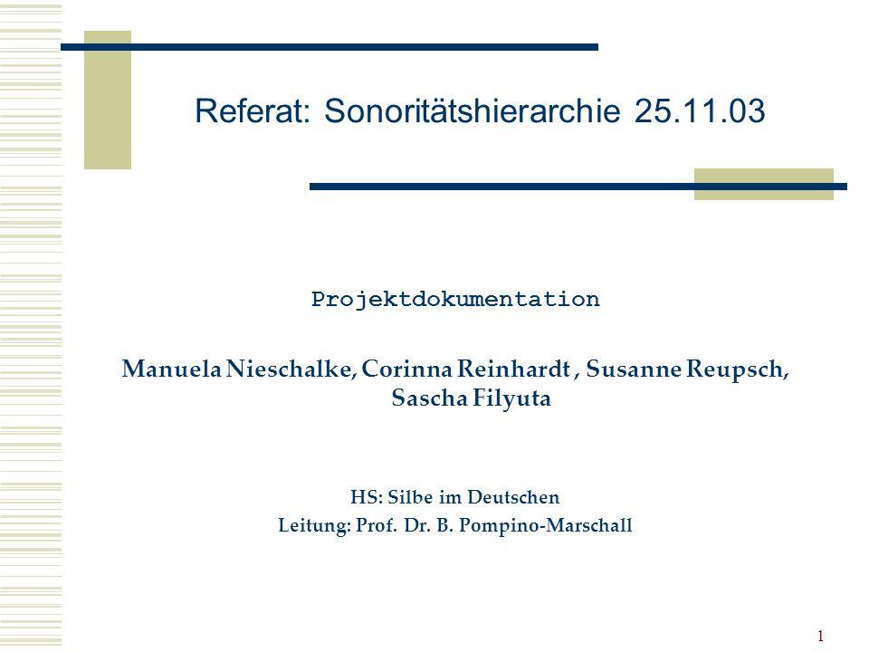 Referat: Sonoritätshierarchie 25.11.03