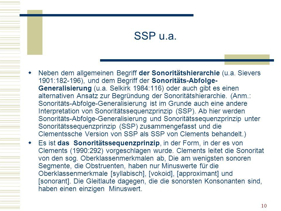 SSP u.a.