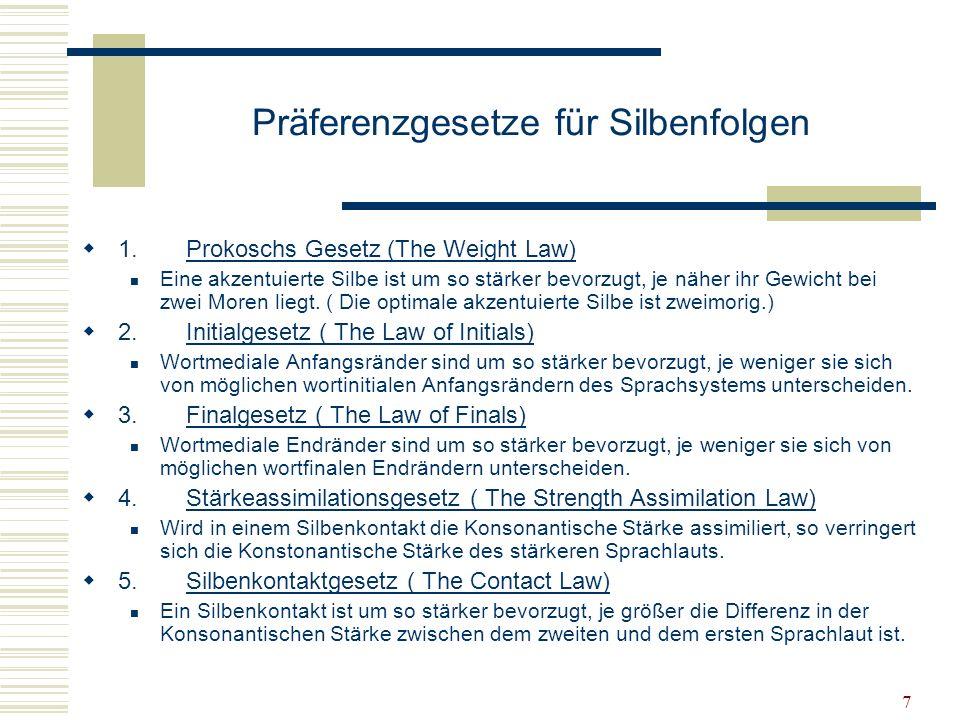 Präferenzgesetze für Silbenfolgen