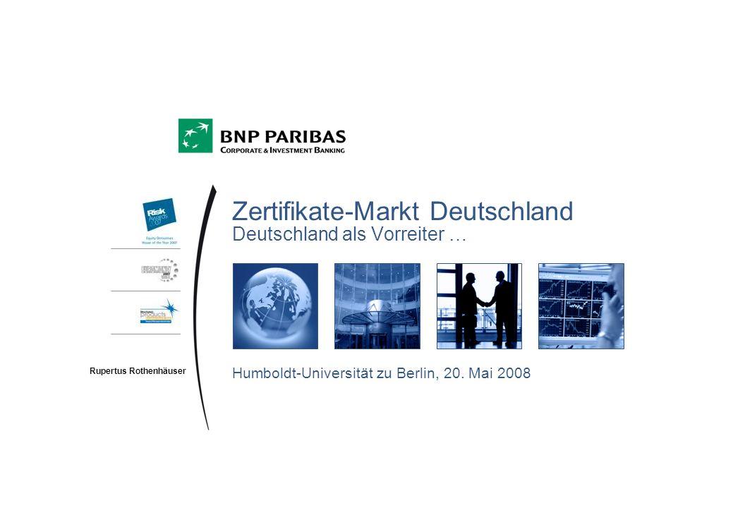 Zertifikate-Markt Deutschland Deutschland als Vorreiter …