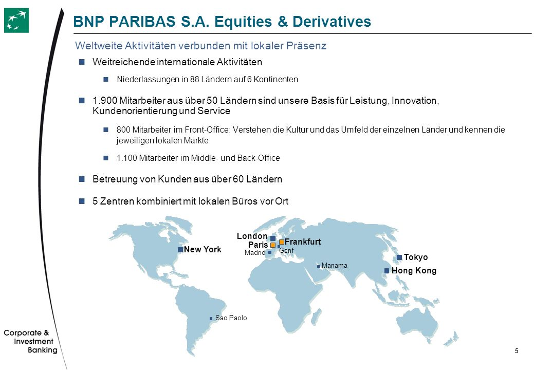 BNP PARIBAS S.A. Equities & Derivatives